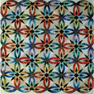 "2012 Raffle Quilt A Judy Neimeyer Pattern ""Bali Wedding"" Pieced and Quilted by Gina Boone Quilt Raffle Winner: Ann Wood"